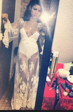 Dress: jhene aiko coachella bodysuit bodycon white white bodycon singer lace embroidered deep v neck