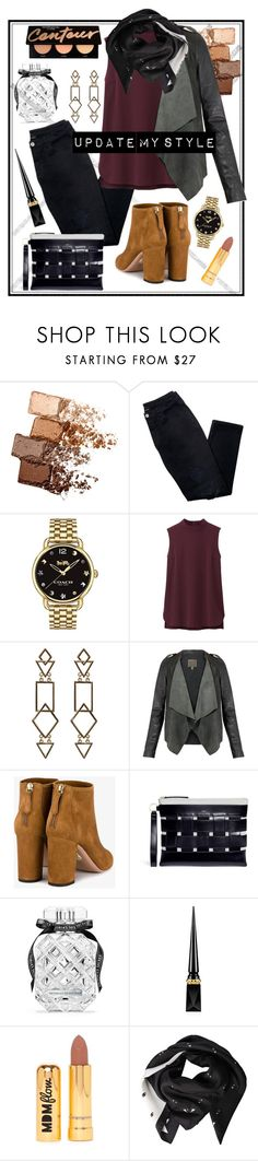 """""""#PolyPresents: New Year's Resolutions"""" by maddythestoken ❤ liked on Polyvore featuring Maybelline, Avon, Coach, Uniqlo, Aquazzura, Vasic, Victoria's Secret, Christian Louboutin, Nasty Gal and Kenzo"""
