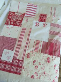 Beautiful Patchwork Quilt. Love the variety of patterns. The initials look a little too far apart.