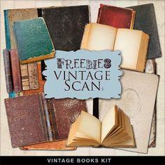 Scrapbooking TammyTags -- TT - Designer - Far Far Hill,  TT - Item - Element, TT - Theme - Vintage, TT - Thing - Book