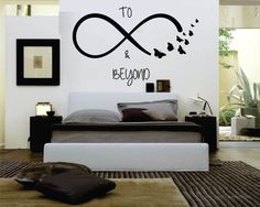 To Infinity & Beyond Wall, Laptop, Mirror, Window Decal by KeepItMello on Etsy https://www.etsy.com/listing/269560949/to-infinity-beyond-wall-laptop-mirror