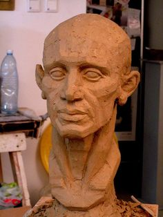 Finished clay head - turnaround 1 | Flickr - Photo Sharing!