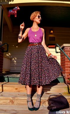 dressed up like a lady: casual full skirt