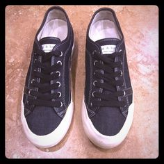 Rag and bone denim sneakers Worn only once and are in amazing almost new shape! No dust bag or box but would look amazing with anything! rag & bone Shoes Sneakers