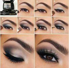Instructions eye make-up in dark gray and purple . Instructions eye make-up in dark gray and purple tones Love Makeup, Beauty Makeup, Perfect Makeup, Pretty Makeup, Amazing Makeup, Makeup Style, Gorgeous Makeup, Perfect Eyes, Hair Beauty