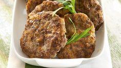 Porkkana-jauhelihapihvit - K-ruoka Steak, Food And Drink, Beef, Cooking, Ethnic Recipes, Koti, Drinks, Meat, Kitchen