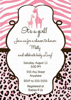 Pink jungle animal baby shower invitation safari baby shower pink jungle animal baby shower invitation safari baby shower girl jungle animal instant download editable pdf a191 pinterest shower invitations filmwisefo