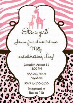 6a9b17ecbcc47e71ec5d5709b83ed297 blue baby showers sprinkle shower pink safari baby shower invitations diy printable by jayarmada2,Girl Jungle Baby Shower Invitations