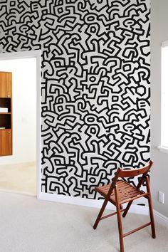 Keith Haring Wall Tiles Keith Haring Blik Designer Blik Wall Stickers | Elzapoppin Stickers Shop