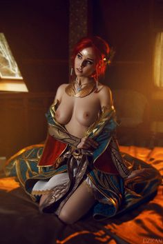 The Witcher 3 - Triss Merigold cosplay by Disharmonica on DeviantArt