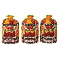 Fruit Canister Sets Kitchen