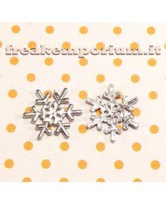 Decorazione floating fiocco di neve 22mm - 1 pezzo