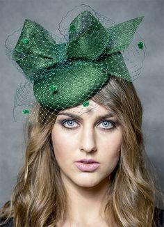 eb820996fb9e3 Dark Green Fascinator. Hats for a Winter Wedding. Green Fascinators. Autumn  Winter Fashion
