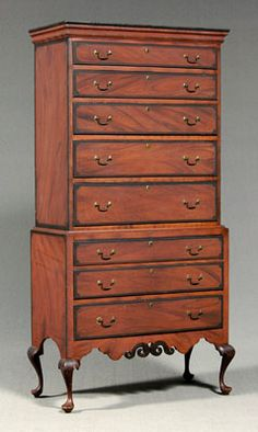 New Hampshire Dunlap High Chest - Sold for $240,000 at Brunk Auctions
