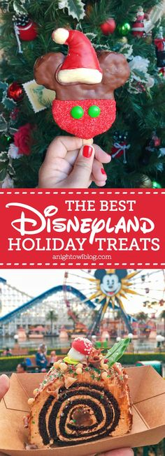 """The post """"A delicious list of some of The Best Disneyland Holiday Treats! From Candy Cane Mickey Mouse Beignets to the Festival of Holidays Yule Log, there& something for everyone!"""" appeared first on Pink Unicorn Disneyland Christmas, Disneyland Food, Disney Holidays, Tokyo Disneyland, Christmas Vacation, Disney Tips, Disney Food, Disney Recipes, Disney Deals"""