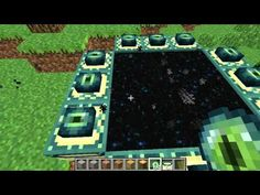 Minecraft- How to make end portal.  Good luck with the Enderdragon!!!!