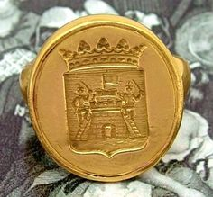 18th Century Gold Armorial Ring