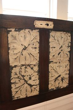 King Sized Headboard Made From Old Door.