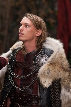 Jamie Campbell Bower as King Arthur in the Starz show Camelot.