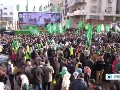 Thousands of members of Hamas's military wing the Qassam Brigades took to the streets of the Gaza Strip to mark the 27th anniversary of Hamas&rs...