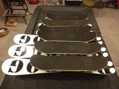 Full lineup of 2012 Predog Snowskates - swallowtail powder skates, 94 & 105 snowskates (all available in either Tanuki or Sista graphic)