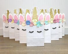Unicorn Favor Bag, Unicorn Birthday, Unicorn Party, Unicorn Loot Bags