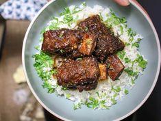 Potluck Recipes, Rib Recipes, Healthy Recipes, Seafood Recipes, Dinner Recipes, Bourbon Sweet Potatoes, Guava Paste, Jamaican Curry Chicken