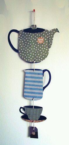 British Tea Party Handmade Hanging Decoration. £4,50, via Etsy.  (by NerdThatDraws)