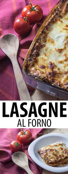 Der Klassiker der italienischen Küche: Lasagne al Forno mit einem Ragù Bolognese nach dem Originalrezept aus Bologna.
