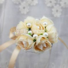 Wedding Flowers Free-form Roses Wrist Corsages Wedding Party/ Evening Satin - USD $4.99 ! HOT Product! A hot product at an incredible low price is now on sale! Come check it out along with other items like this. Get great discounts, earn Rewards and much more each time you shop with us!