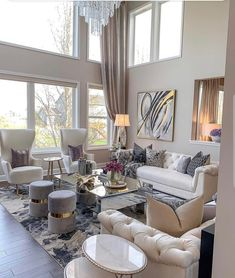 # Luxury Living Room Designs Modern Chic Living Room Design To Give A Charming Look Home Design Living Room, Glam Living Room, Elegant Living Room, Beautiful Living Rooms, Formal Living Rooms, Interior Design Living Room, Feminine Living Rooms, Modern Living Room Designs, Luxury Living Rooms