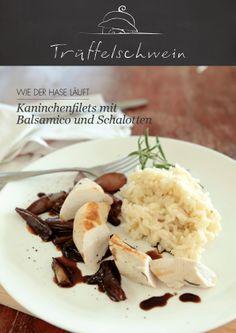 Kaninchenfilets mit Balsamico und Schalotten