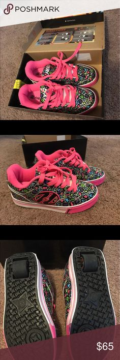 Pink Leopard print Heelys Pink Leopard print Heelys size, US 5. Like new in Box! Shoes Sneakers