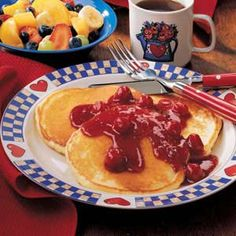 Overnight Pancakes Recipe- makes the batter the night before so it's ready to go in the morning