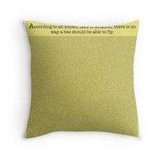 The Entire Bee Movie Script Throw Pillows