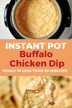 Instant Pot Buffalo Chicken Dip Instant Pot Buffalo Chicken Dip Making Buffalo Chicken Dip just got easier! Make this dip in the Instant Pot and have it ready in less than 20 minutes! Perfect for holidays and game day!<br> Easy and delicious! Best Instant Pot Recipe, Instant Recipes, Instant Pot Dinner Recipes, Buffalo Chicken Dip Recipe, Chicken Dips, Chicken Recipes, Buffalo Chicken Wing Dip, Healthy Buffalo Chicken Dip, Dip Recipes