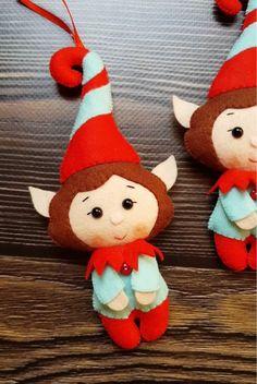 Clay Christmas Decorations, Felt Decorations, Christmas Ornaments To Make, Easy Christmas Crafts, Christmas Projects, Christmas Holidays, Christmas Trees, Diy Xmas, Felt Crafts Diy