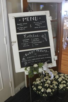 Menu, Welcome, Wedding
