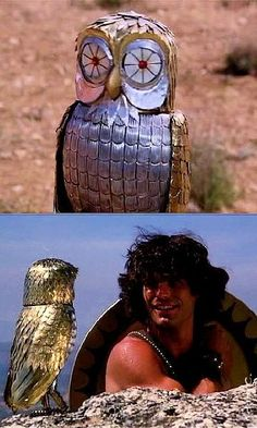 "Bubo, the mechanical owl from the original ""Clash of the Titans."""