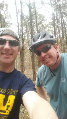 #peddlin4kevin today on the Jones Mill bike trail with buddy Chris Green! 2 miles
