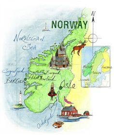 – Norwegian Sea map byJane Webster