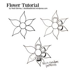 Flor Tutorial Doodle de Heidi Denney https://doodleaddicted.wordpress.com/category/doodle-prompt/