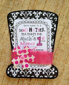 Mad Hatter Tea Party Invitation by jodigilbert2004 on Etsy, $2.50