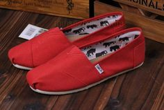 Toms shoes red white [toms-051] - $26.99 :