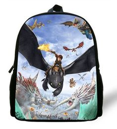 12-inch Children School Bags How to Train Your Dragon Backpacks For Little Boys Hiccup Dragon Bag Kids School Backpaks