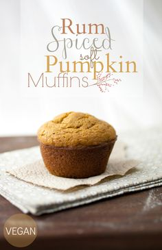 Rum spiced soft pumpkin muffins!!! JOK!