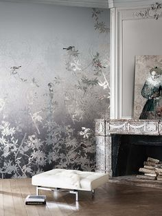 Romantic Wallpaper. Bruggia. Khroma. Wirz Tapeten AG