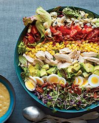 Southern Cobb Salad with Roasted Sweet Onion Dressing Recipe on Food & Wine
