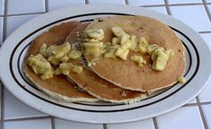 Macadamia Nut Pancakes with Coconut Syrup!