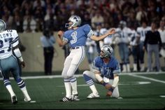 #3 Eddie Murray & #17 Eric Hipple of the Detroit Lions